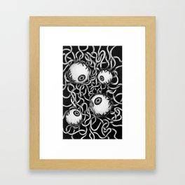 Spaghetti & Eyeballs Framed Art Print