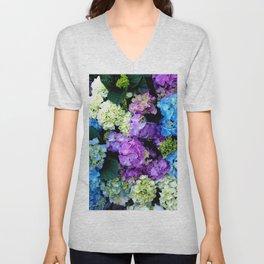 Colorful Flowering Bush Unisex V-Neck