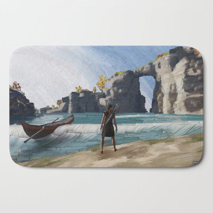 Greek beach Bath Mat