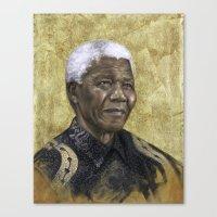 mandela Canvas Prints featuring Mandela by Sara Golish