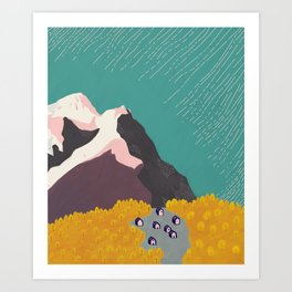 Little Mountain Village Art Print