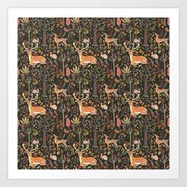 Deers in Autumn Art Print