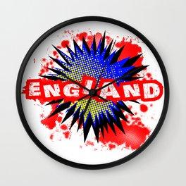 England Comic Exclamation Wall Clock