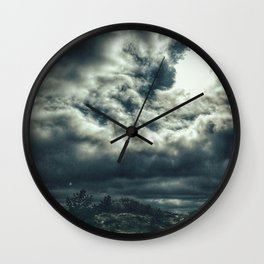 Thunder is coming Wall Clock