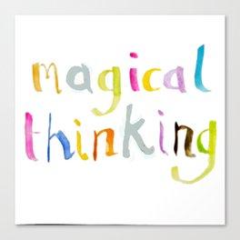 magical thinking watercolor Canvas Print
