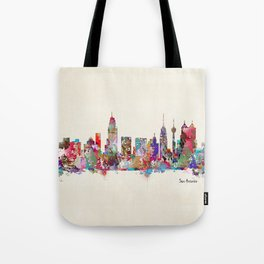 San Antonio Texas skyline Tote Bag
