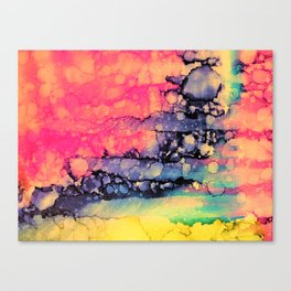 Vivid Pink Color Run Canvas Print