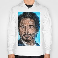 robert downey jr Hoodies featuring RD JR by Balazs Pakozdi