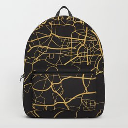 MUNICH GERMANY GOLD ON BLACK CITY MAP Backpack