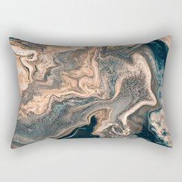 M A R B L E - copper & blue Rectangular Pillow