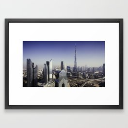 Dubai sky line. Framed Art Print