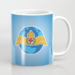MJN air logo/blue Coffee Mug