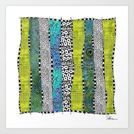 Happy Stripe Art Print