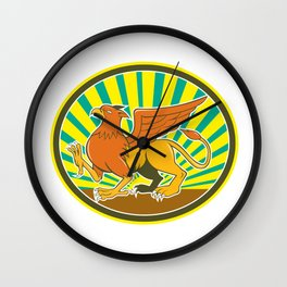 Griiffin Marching Side Oval Cartoon Wall Clock