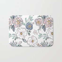 Indy Bloom Design Periwinkle Rose Bath Mat