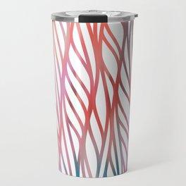 Geometrical coral pink teal watercolor pattern Travel Mug