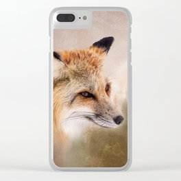 Fox in the wild Clear iPhone Case