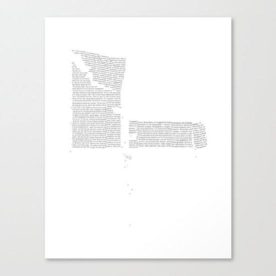 Erosion & Typography 4 Canvas Print