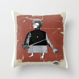 hunting fish Throw Pillow