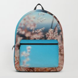 Whispering Grass Turquoise Sky Backpack