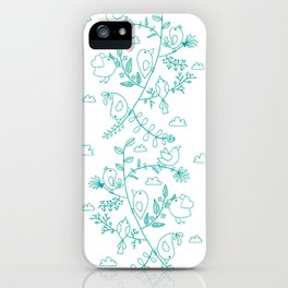 Birds and leaves iPhone Case