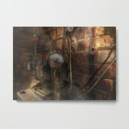 Corridors and Clocks Metal Print