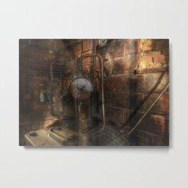 Corridors and Clocks Metal Print