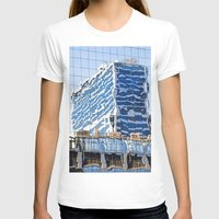 buildings T-shirts featuring Twisted Buildings by davehare