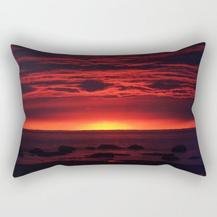 Red Sky at Night Rectangular Pillow