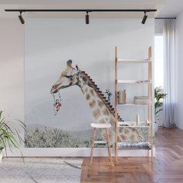 Giraffe Playground Wall Mural