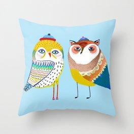 Owl friends. Throw Pillow