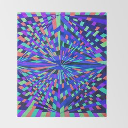 Neon Prisms Throw Blanket