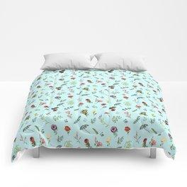 romantic flowers Comforters