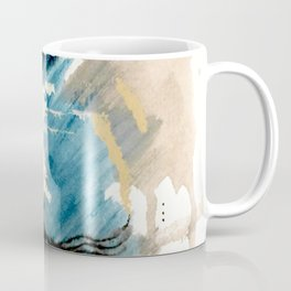 You are an Ocean - abstract India Ink & Acrylic in blue, gray, brown, black and white Coffee Mug