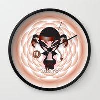 scorpio Wall Clocks featuring Scorpio by HanYong