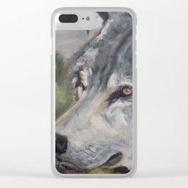 The Grey Wolf Clear iPhone Case