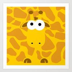 Minimal Giraffe Art Print
