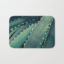 Abstract Botanical in Teal and Emerald Bath Mat