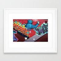graffiti Framed Art Prints featuring graffiti by mark ashkenazi