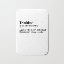 Funny Triathlon Definition Bath Mat