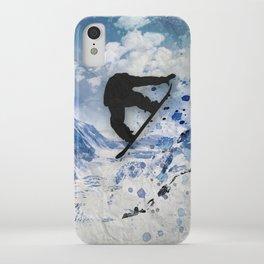 Snowboarder In Flight iPhone Case