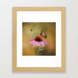 Butterflies At Play Framed Art Print