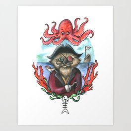 Captain Barnacles The Cat Art Print