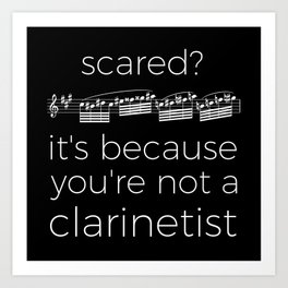 Fearless clarinetist (dark colors) Art Print