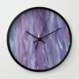 Touching Purple Blue Watercolor Abstract #1 #painting #decor #art #society6 Wall Clock