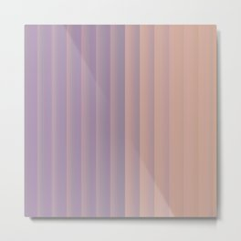 Lavender and Neutral Color Vertical Stripes Metal Print