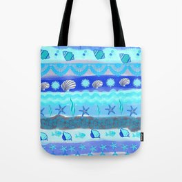 Ocean Theme Zentangle Pattern Tote Bag