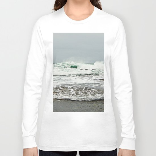 Sea Breaks on the Tidal Shelf Long Sleeve T-shirt