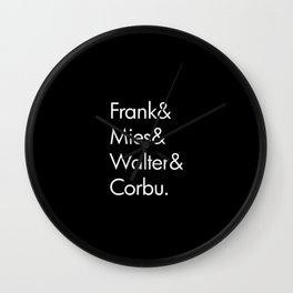 Fabulous Four Wall Clock