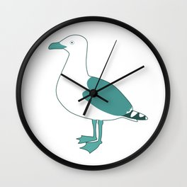 Follow the gull Wall Clock